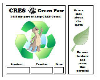 Our New Green Paw!